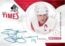 2009/10 SP Authentic Steve Yzerman Autograph