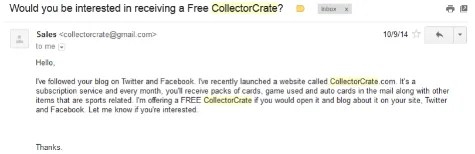 Collector Crate Email
