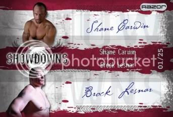 2010 Leaf MMA Shane Carwin Brock Lesnar Dual Autograph