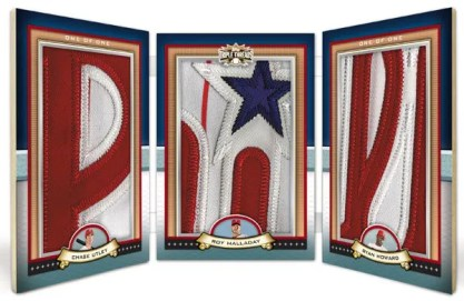 2011 Triple Threads Phillies Patch Book Card