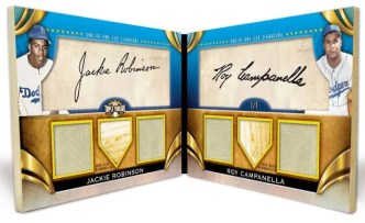 2011 Triple Threads Dual Cut Jackie Robinson/Campanella