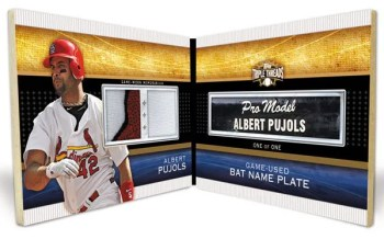 2011 Topps Triple Threads Albert Pujols Nameplate