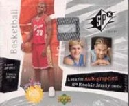 2003/04 Upper Deck UD Spx Basketball Box