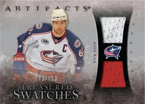 10/11 UD Artifacts Treasures Swatches Rick Nash Jersey Card