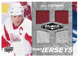 2010/11 Black Diamond Hockey Steve Yzerman Quad Jersey Card