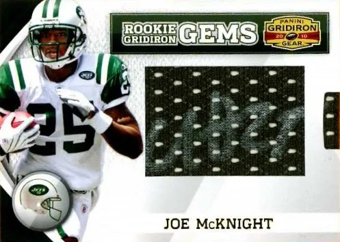 2010 Panini Gridiron Gear RC Hidden Gems Joe McKnight Autograph Card