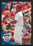 2010 Topps Update Series Albert Pujols All Star Black Parallel Card