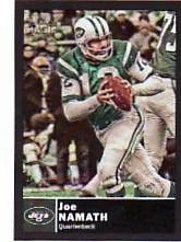 2010 Topps Magic Joe Namath Black Border Mini