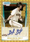 2011 Bowman Brandon Belt Superfractor Autograph Card