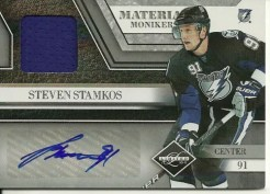 10/11 Limited Steven Stamkos Material Monikers Auto Jersey