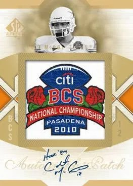 2010 Upper Deck UD SP Authentic BCS Championship Patch Colt McCoy Autograph