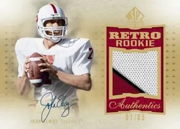 2010 Upper Deck SP Authentic John Elway Rookie Retro Patch Autograph