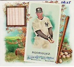 2010 Topps Allen & Ginter Alex Rodriguez Box Loader Bat Card #8/25