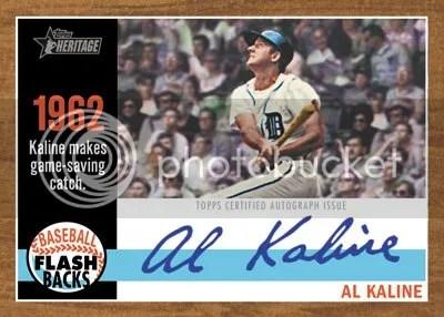 2011 Topps Heritage Flashbacks Autograph Al Kaline Card