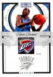 2009/10 Panini National Treasures Kevin Durant Century NBA Logo Prime Jersey