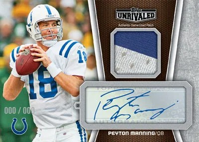 2010 Topps Unrivaled Peyton Manning Autograph Patch Card