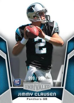 2010 Topps Unrivaled Jimmy Clausen Rookie RC Card