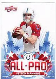 2010 Score Football Peyton Manning All-Pro