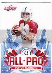 2010 Score Football Peyton Manning All-Pro