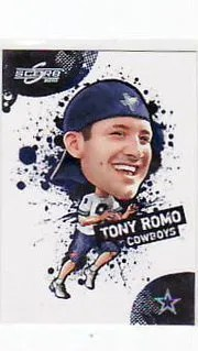 2010 Score Football Tony Romo Big Head