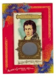 2010 Topps Allen and Ginter Beethoven 1/1 DNA Relic Hair Card