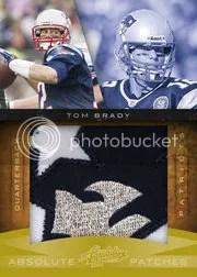 2010 Playoff Absolute Memorabilia Tom Brady Jumbo Patch