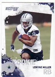 2010 Score Football Lonyae Miller RC