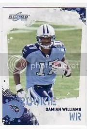 2010 Score Football Damian Williams RC
