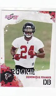 2010 Score Football Dominique Franks RC