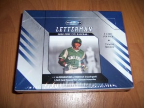 2008 Razor Letterman Baseball Box