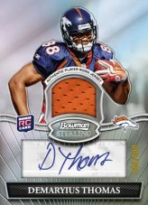 2010 Bowman Sterling Demaryius Thomas Autograph Jersey Relic RC Card