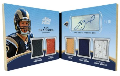 2010 Topps Prime Sam Bradford Level 1 Autograph 5 Piece Relic Card