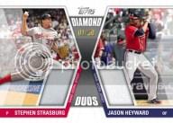 2011 Topps Series 1 Diamond Duos Stephen Strasburg Jason Heyward Dual Relic Jersey