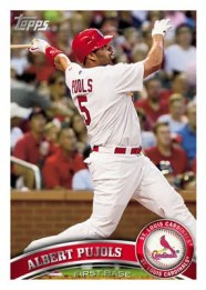 2011 Topps Series 1 Albert Pujols Base Card