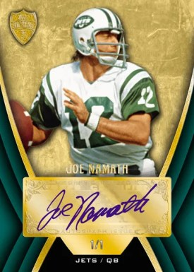 2010 Topps Supreme Joe Namath Autograph Green Parallel #1/1