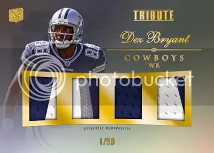 2010 Topps Tribute Dez Bryant Quad Relic Card