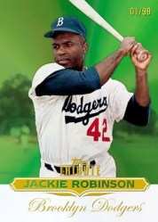 2011 Topps Tribute Jackie Robinson Green Parallel Base Card