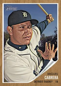 2011 Topps Heritage Miguel Cabrera Base Card
