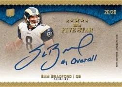 2010 Topps Five Star Sam Bradford Autograph Inscription #/20