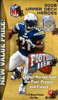 2008 Upper Deck UD Heroes Football Retail Box