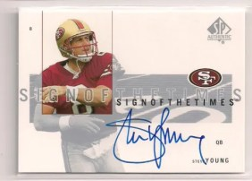 2001 Sp Authentic Sign of the Times Steve Young Autograph