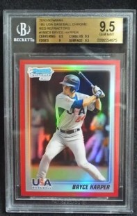 2010 Bowman USA Bryce Harper Red BGS 9.5