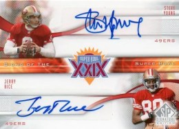 2009 Upper Deck Signs of the Super Bowl Jerry Rice/Steve Young