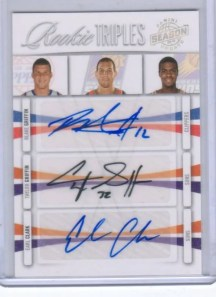 09/10 Panini Season Update RC Triple Auto Blake Griffin Taylor Griffin Earl Clark