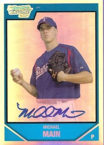 2007 Bowman Chrome Michael Main Rookie