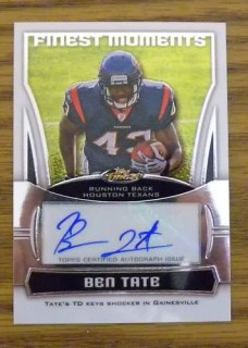 2010 Topps Finest Moments Ben Tate Autograph