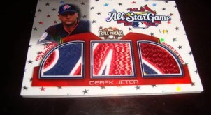 DEREK JETER 2010 Triple Threads TRIPLE GW ALL STAR PATCH 6/9