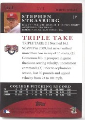 2010 Topps Triple Threads White Whale Stephen Strasburg 1/1
