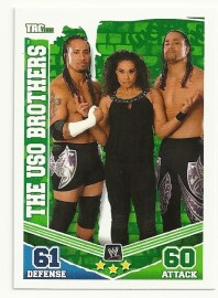 2010 Slam Attax Mayhem USO Brothers Tag Team Card