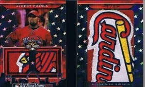 2010 TRIPLE THREADS ALBERT PUJOLS JUMBO PATCH 1/1
